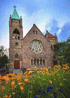 Photograph - Saint John's Episcopal Portsmouth by Jerry Gammon