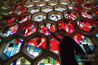 Minnesota Photograph - Saint John's University Abbey Amazing Stained Glass by Wayne Moran