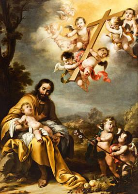 Photograph - Saint Joseph And Baby Jesus 1670 by Munir Alawi