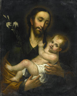 Painting - Saint Joseph And The Christ Child by Miguel Cabrera