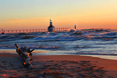 Photograph - Saint Joseph Lighthouse by Michael Rucker