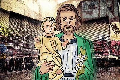 Saint Joseph The Protector Art Print by Davy Cheng