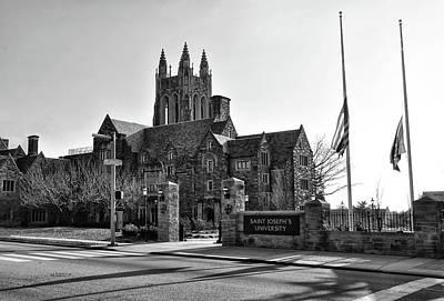 Photograph - Saint Josephs - Philadelphia Pennsylvania In Black And White by Bill Cannon