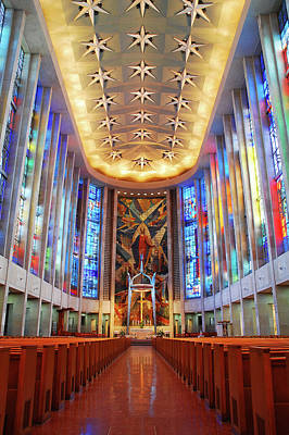 Photograph - Saint Jospehs Interior, Hartford by James Kirkikis