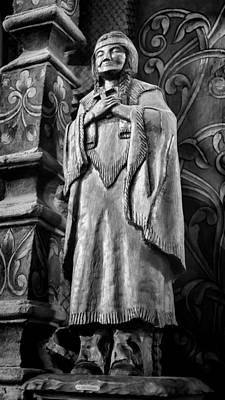 Mission San Xavier Del Bac Photograph - Saint Kateri Tekakwitha - Bw by Stephen Stookey