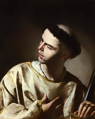 Christian Artwork Painting - Saint Lawrence by Mountain Dreams