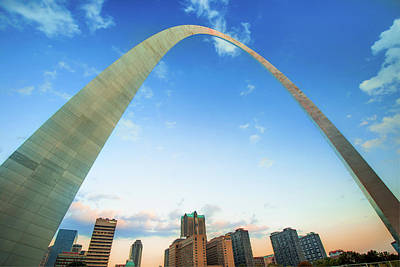 Photograph - Saint Louis Arch And Downtown Skyscrapers by Gregory Ballos