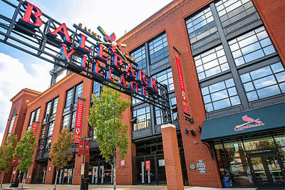 Recently Sold - Sports Royalty-Free and Rights-Managed Images - Saint Louis Ballpark Village at Busch Stadium by Gregory Ballos