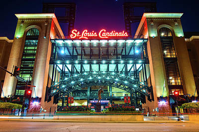 Photograph - Saint Louis Cardinals Busch Stadium by Gregory Ballos