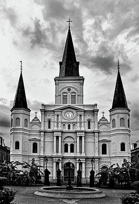 Photograph - Saint Louis Cathedral 003 by George Bostian