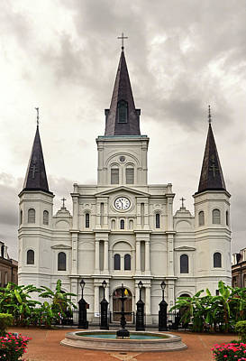 Photograph - Saint Louis Cathedral 004 by George Bostian