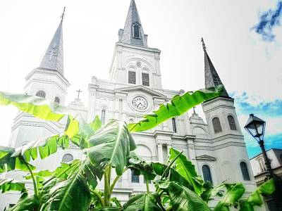 Photograph - Saint Louis Cathedral 2 by John Duplantis