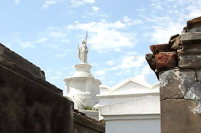 Photograph - Saint Louis Cemetery Tomb 56 by Jerry Sodorff