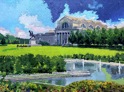 Painting - Saint Louis City Art Museum by John Lautermilch