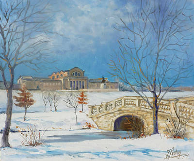 Saint Louis Painting - Saint Louis Forest Park Frosty Morning by Irek Szelag
