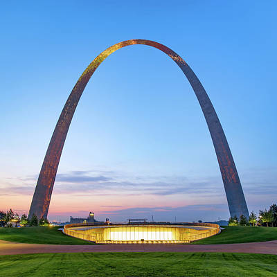 Photograph - Saint Louis Gateway Arch - Square Format - Color by Gregory Ballos