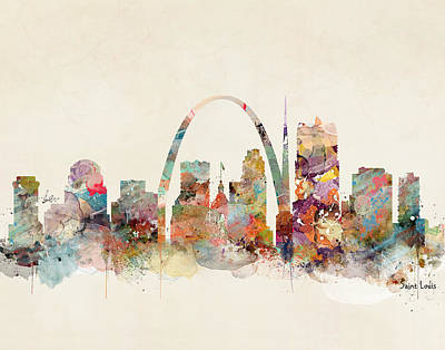 Painting - Saint Louis Missouri by Bleu Bri