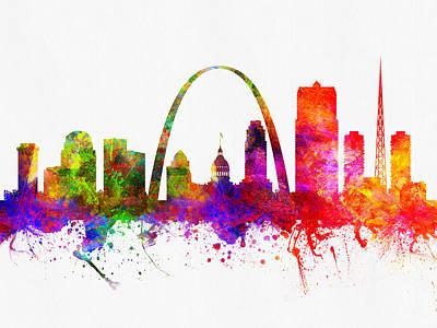 Saint Louis Missouri Skyline Color02 Art Print