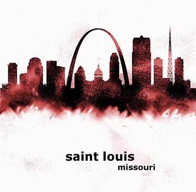 St Louis Cardinals Painting - Saint Louis Skyline  by Enki Art