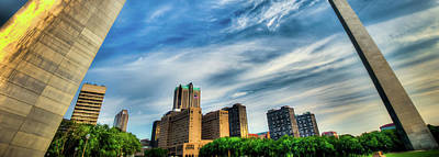Photograph - Saint Louis Skyline Under Arch Panorama by Gregory Ballos