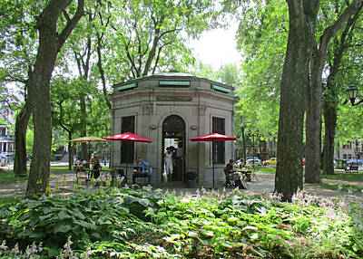 Montreal Neighborhoods Photograph - Saint Louis Square 10 by Randall Weidner