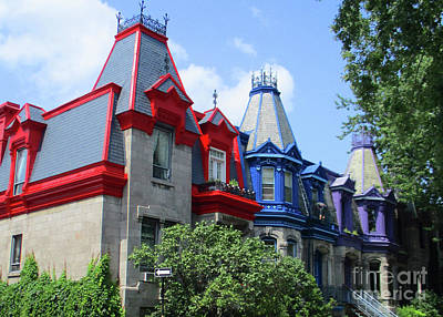 Montreal Neighborhoods Photograph - Saint Louis Square 3 by Randall Weidner