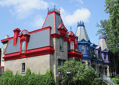 Montreal Neighborhoods Photograph - Saint Louis Square 4 by Randall Weidner