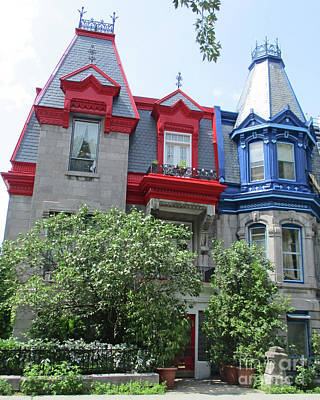 Montreal Neighborhoods Photograph - Saint Louis Square 5 by Randall Weidner