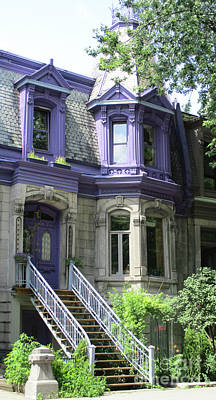 Montreal Neighborhoods Photograph - Saint Louis Square 7 by Randall Weidner