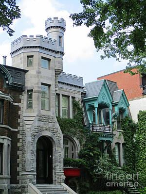 Montreal Neighborhoods Photograph - Saint Louis Square 8 by Randall Weidner