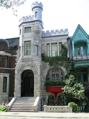 Montreal Neighborhoods Photograph - Saint Louis Square 9 by Randall Weidner
