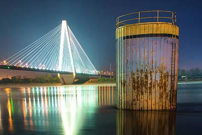 Photograph - Saint Louis Stan Musial Bridge Mississippi Riverscape by Gregory Ballos