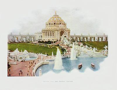 Saint Louis World's Fair Festival Hall And Central Cascade                            Original