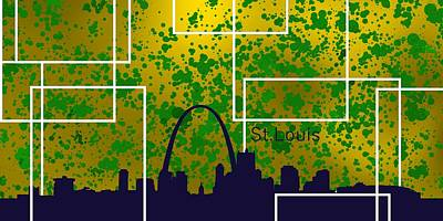 Cityscape Digital Art - Saint. Louise Skyland by Alberto RuiZ