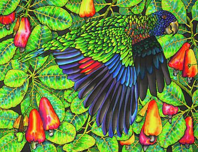 Painting - Saint Lucia Amazona Versicolor Parrot by Daniel Jean-Baptiste