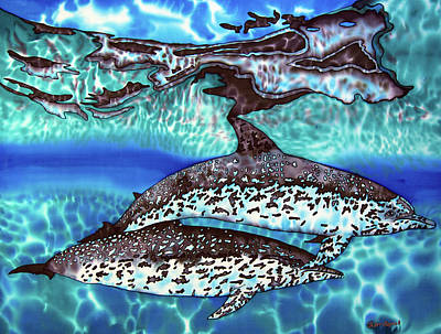 Painting - Saint Lucia Wild Dolphins by Daniel Jean-Baptiste
