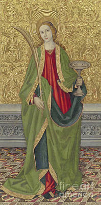 St Mary Painting - Saint Lucy by Jaume the younger Vergos