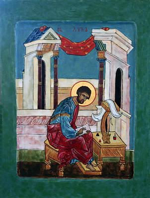 Saint Luke Print by Phillip Schwartz