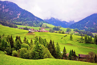 Photograph - Saint Magdalena In Val Funes Landscape View by Brch Photography
