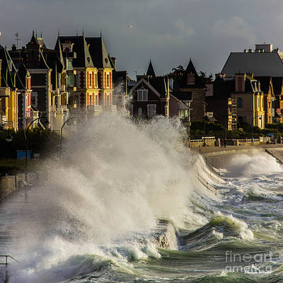 Photograph - Saint-malo, Great Tide by Dominique Guillaume