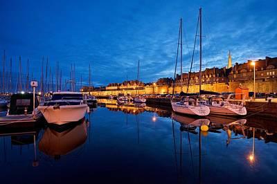 Photograph - Saint Malo Harbour by Stephen Taylor