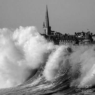 Photograph - Saint-malo, The Wave by Dominique Guillaume