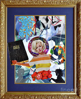 Cardboard Mixed Media - Saint Marilyn The Divine by Dave Kers