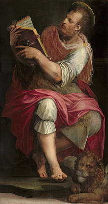 Catholic For Sale Painting - Saint Mark by Giorgio Vasari