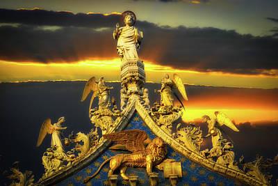 Photograph - Saint Marks Basilica Facade  by Harry Spitz