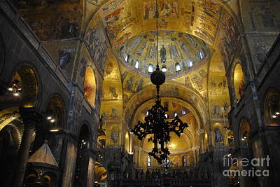 Photograph - Saint Mark's Basilica Interior by Jacqueline M Lewis
