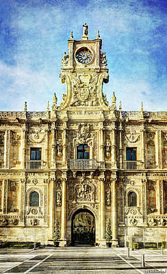Photograph - Saint Mark's Convent Main Facade In Leon - Vintage by Weston Westmoreland