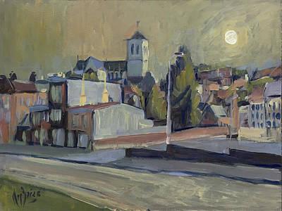 Briex Painting - Saint Martin Basilique Liege by Nop Briex
