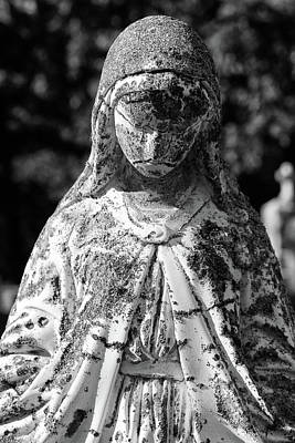 Photograph - Saint Mary 1 Bw by Mary Bedy