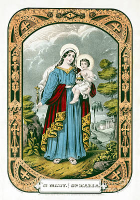 Drawing - Saint Mary, C1846.  by Granger